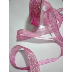 Pink Lurex Ribbon - Size 15 mm