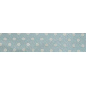 Pois Satin Ribbon - Light Blue - 13 mm