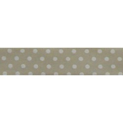 Pois Satin Ribbon - Cream - 13 mm