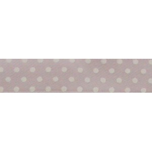 Pois Satin Ribbon - Pink - 13 mm