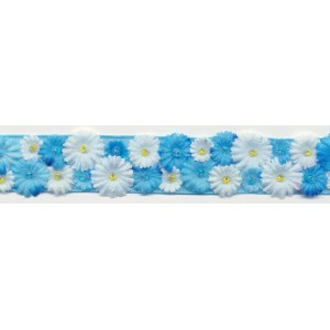 Daisies Trimmings - Blue
