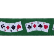 Jacquart Ribbon - Playing Cards - Width 3 cm