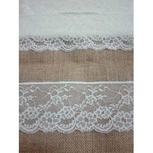 Ivory Valencienne Lace  - Width 7,00 cm