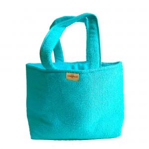 Bolso de Rizo para Playa - Color Turquesa