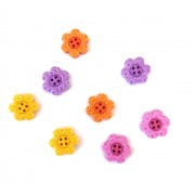 Decorative Buttons - Flowers Bright Blossoms