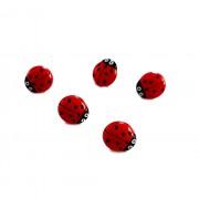 Ladybug Buttons 11 mm