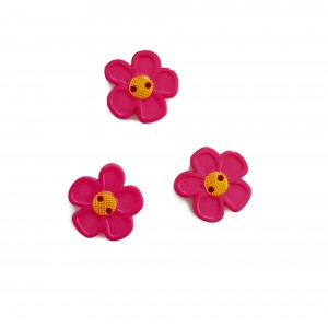 Bottoni - Fiore Rosa da 20 mm