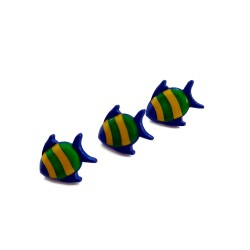 Blue Fish Buttons 18 mm