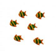 Orange Fish Buttons 18 mm