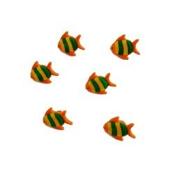 Bottoni - Pesci Arancio da 18 mm