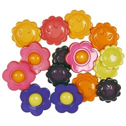 Decorative Buttons - Flower Power