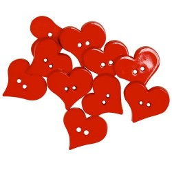 Decorative Buttons - Valentine Hearts