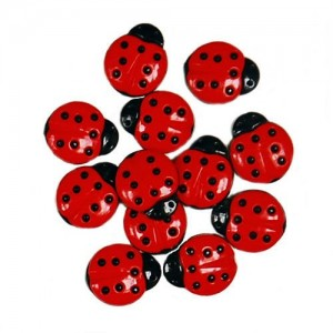 Decorative Buttons - Ladybugs