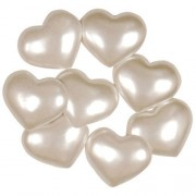 Decorative Buttons - White Hearts