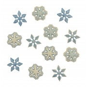 Decorative Christmas Buttons - Snowflakes