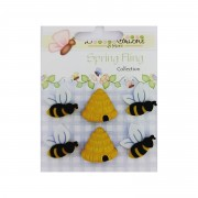 Decorative Buttons - Busy Bees