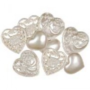 Decorative Buttons - Victorian Hearts