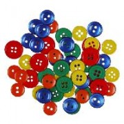 Decorative Medium Buttons - Primary Colors