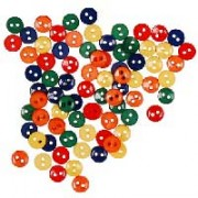 Decorative Small Buttons - Primary Colors
