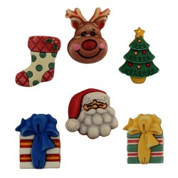 Decorative Christmas Buttons