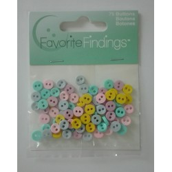 Decorative Small Buttons - Pastels
