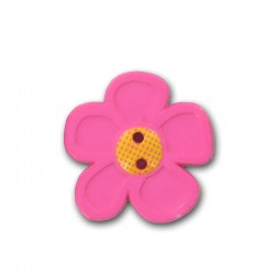 Pink Flower Buttons 20 mm