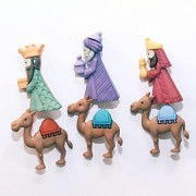 Decorative Christmas Buttons - We Three Kings