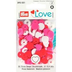 Prym - Bottoni a Pressione Color Snaps - Cuore