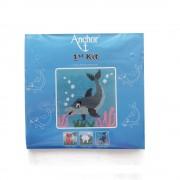 Anchor - Dolphin Waves - Delfino da Ricamare