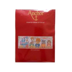 Anchor - Kit di Ricamo a Punto Croce - Train Birth Sampler