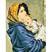 Royal Paris - Needlepoint Canvas Madonna and Child by Ferruzzi