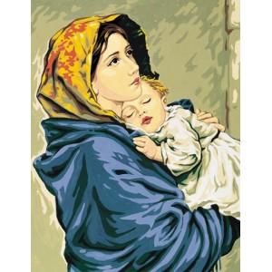 Royal Paris - Cañamazo Virgen con Niño Ferruzzi
