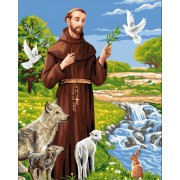 Royal Paris - Needlepoint Canvas Francis of Assisi