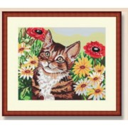 Needlepoint Canvas - Cat