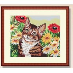 Cañamazo Mediopunto - Gato