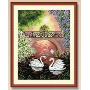 Landscape with Swans - Needlepoint Canvas