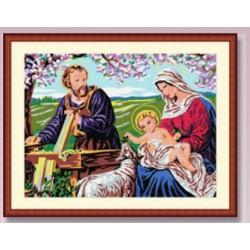Cañamazo Medio Punto - La Sagrada Familia
