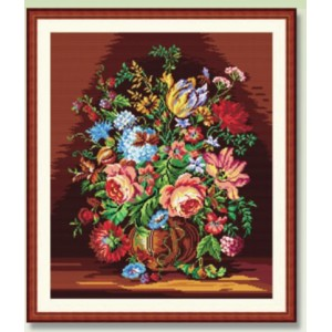 Needlepoint Canvas - Still Life with Flowers