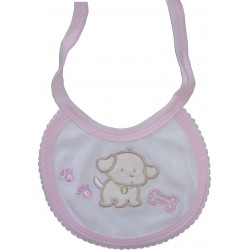 Pink Baby Bib - Little Dog