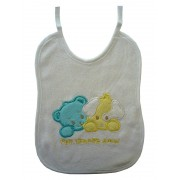 Terry Baby Bib with Dogs - Baby Boy