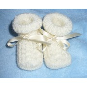 Knitting Baby Boots - It's a Boy