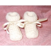 Knitting Baby Boots - It's a Girl