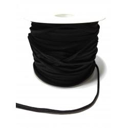 Treccia Elastica Lavabile in Lavatrice - Colore Nero - Altezza 4 mm