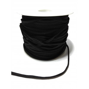 Elastic Braid for Sewing - Black Color - Size 4 mm