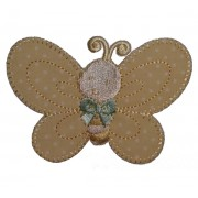 Iron-on Embroidery Sticker - Yellow Butterfly