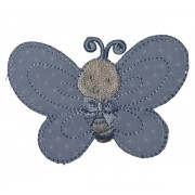 Iron-on Embroidery Sticker - Light Blue Butterfly