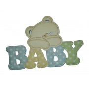Iron-on Patch - Baby Teddy Bear - Light Blue