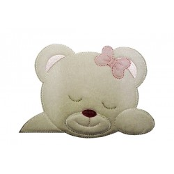 Iron-on Patch - Cute Teddy Bear - Pink