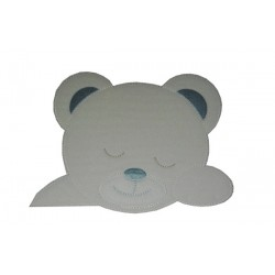 Iron-on Patch - Cute Teddy Bear - Light Blue