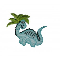 Iron-on Patch - Blue Dinosaur